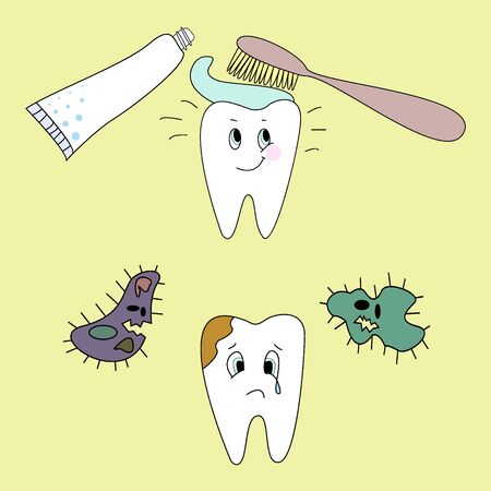 dirty teeth: Tooth cleaning