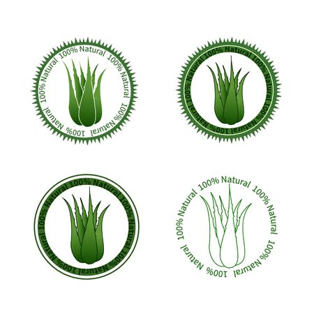 aloe vera plant: Set of Aloe Vera labels Illustration