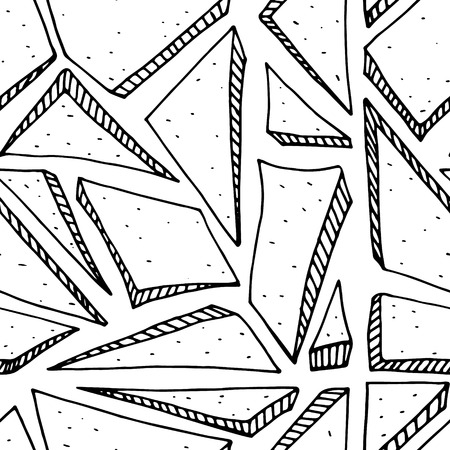 detritus: Seamless abstract triangle geometrical background.Vector illustration. Illustration