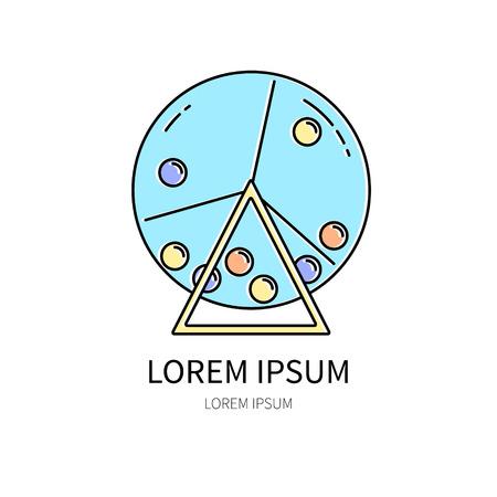 Lotterie-Linie-Symbol auf weißem Hintergrund Vektor-Illustration isoliert. Vektorgrafik