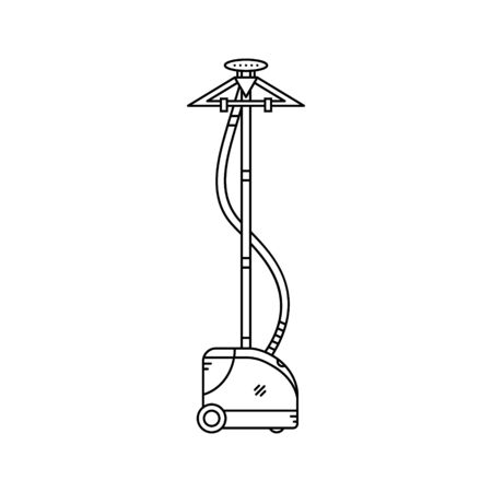 Electric fabric steamer line icon.Vector illustration.