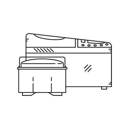 bread maker: Line icon of electric bread maker.Vector illustration. Illustration