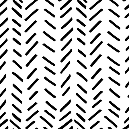 careless: Vector seamless pattern. Abstract background with brush strokes. Illustration