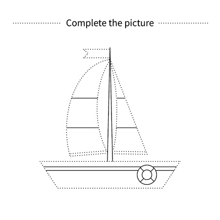 Complete The Picture Of YachtColoring PageChildren Educational