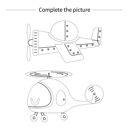 Complete The Picture Coloring Page Children Educational Game