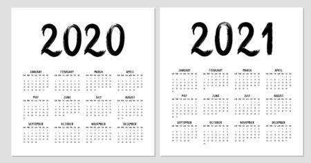 Calendar 2020 template for wall, business, print. 일러스트