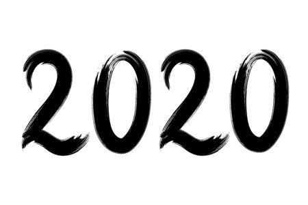 2020 Hand drawn brush lettering.