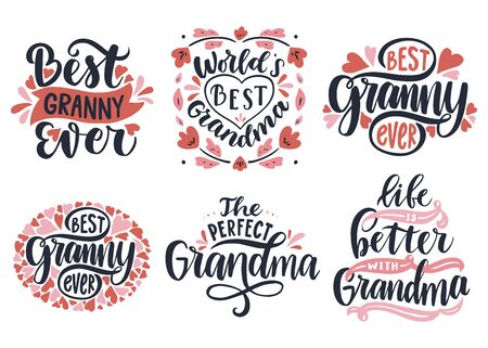 Vector set of calligraphic lettering