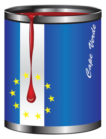 Industrial container stylized Cape Verde flag. Vector illustration. Illustration