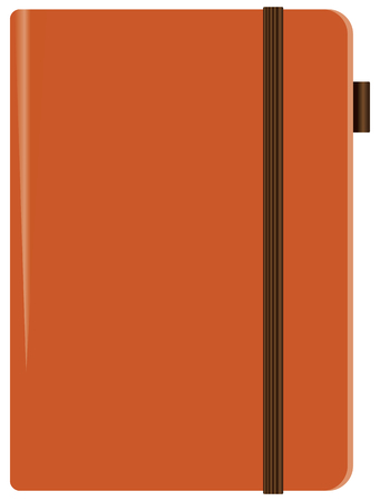 Leather notebook with a fixing elastic band Illustration