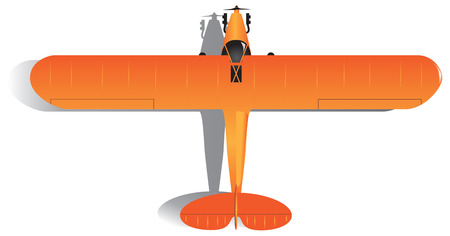 Light single-engine aircraft small aircraft. Vector illustration.
