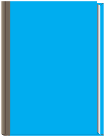 Closed thick book with a blue cover. Vector illustration. Illustration