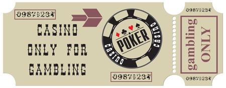 ギャンブルは、カジノを訪問する古いチケット。