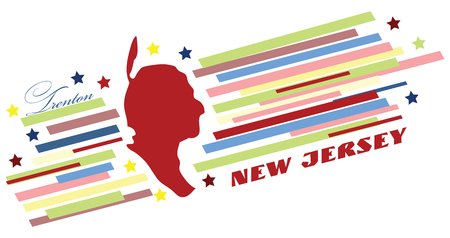 The symbolic banner of New Jersey for the presentation of the US state.
