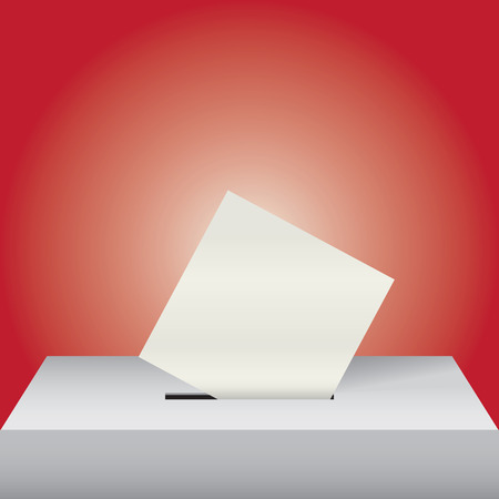 The ballot box with the ballot for elections Illustration