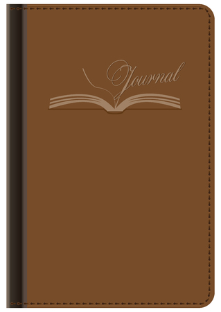 Option notebook for office records in leather binding