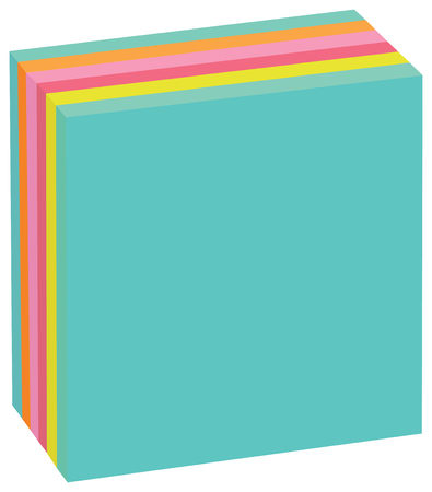 Colored Cubic sheets to office records. Sheets for messages.