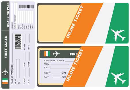 해안 코트 디부 아르 항공 티켓 서비스 봉투. 벡터. 스톡 콘텐츠 - 78426278