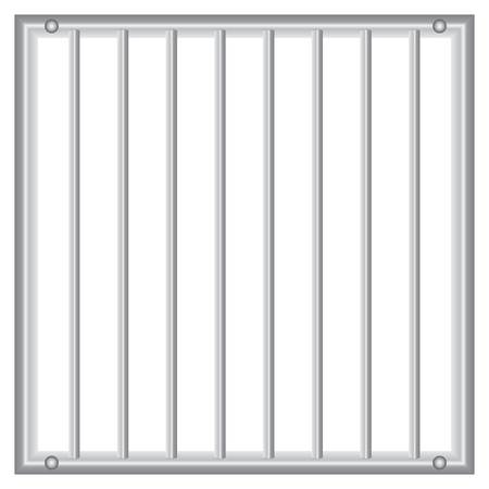 grille: Industrial grid with vertical rods. Vector illustration.