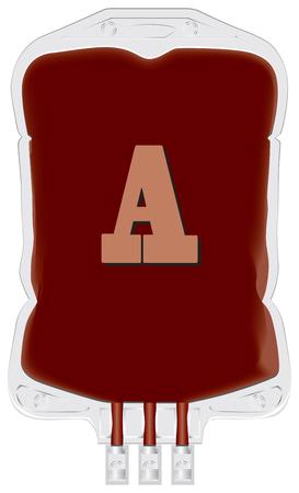 グループ a. ベクトルのドナーの血液を含むコンテナー。  イラスト・ベクター素材