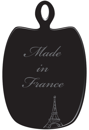 Symbolic kitchen cutting board with text Made in France Illustration