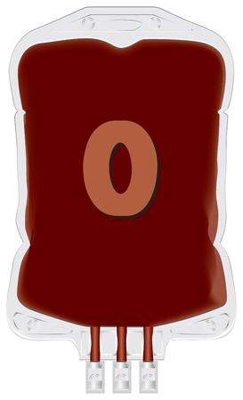 グループ o. ベクトルのドナーの血液を含むコンテナー。