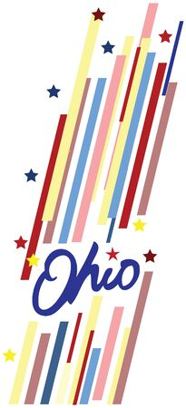 Creative banner with the symbol of the State of Ohio.