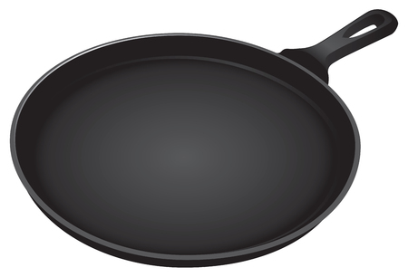 Heavy frying pan for cooking. Vector illustration. Illustration