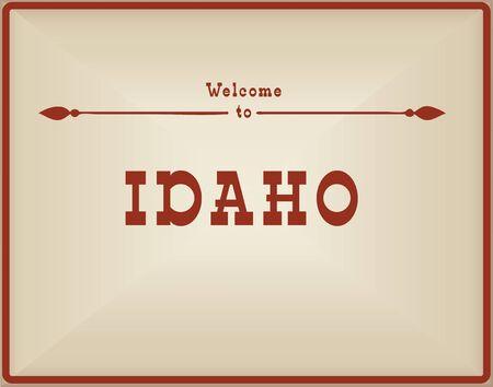 ビンテージ カード アイダホへようこそ。古い古典的なスタイルです。