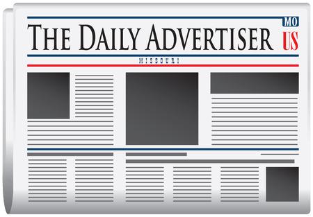 Newspaper for Missouri - Newspaper The Daily Advertiser Illusztráció