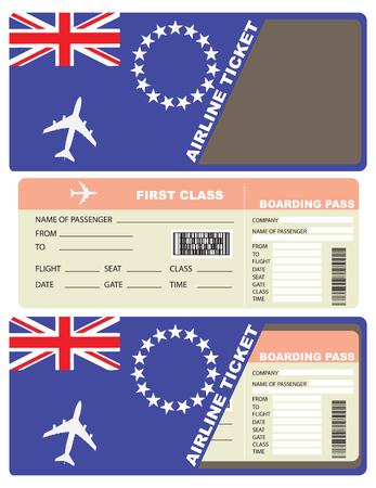 Biglietto aereo di prima classe in Afghanistan. Illustrazione vettoriale.