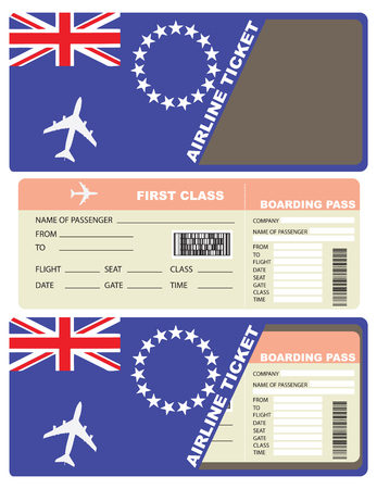 first form: Plane ticket first class in Afghanistan. Vector illustration.