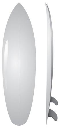A basic surface for applying design design, a surfboard. Vector illustration.