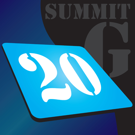 Banner for the G summit with the possibility of replacing the numbers