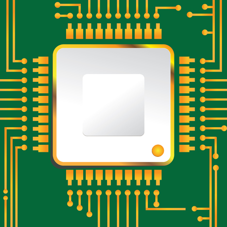 The basic model of the chip placement on the board