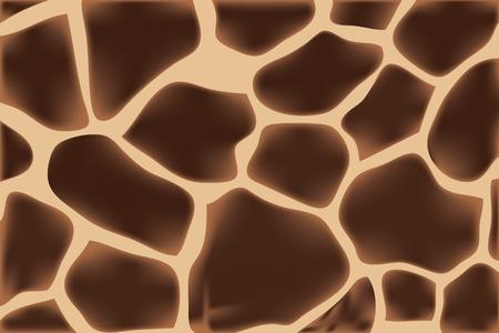 Pelli di giraffa con un motivo caratteristico di macchie marrone scuro