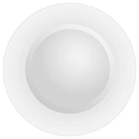 Classic white plate for dinner. View from above.