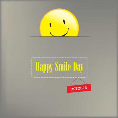 Poster for the holiday, celebrated in October - Happy smile day Illusztráció