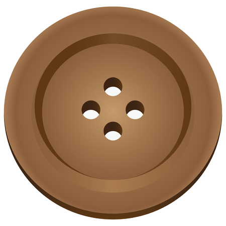 Button for sewing - an accessory clothes. Vector illustration.