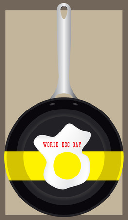 World Egg Day - a poster with a creative image of fried eggs for the holiday.