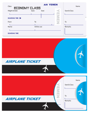 Air ticket for Yemen Airlines with an envelope