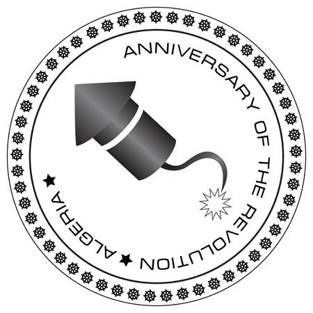 Stamp to November 1 Anniversary of the revolution Algeria
