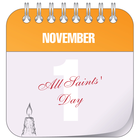 Calendar marked November 1 All Saints' Day