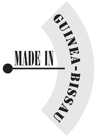 Industrial marking made in Guinea-Bissau, technical measuring instrument. Иллюстрация