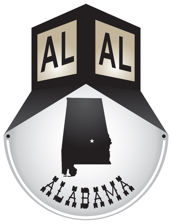Vintage street sign for the state of Alabama.