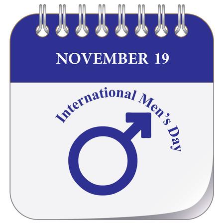 Calendar page for International Men's Day November 19