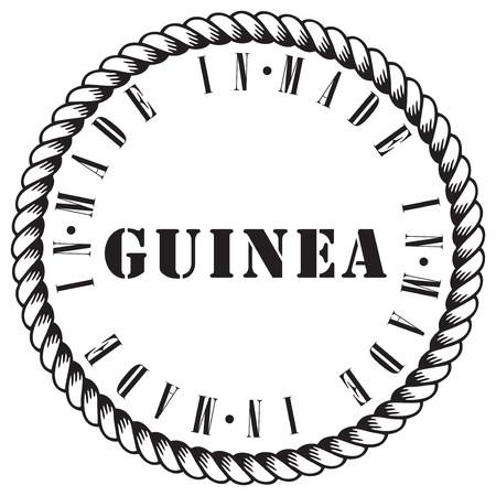 Classic round the stamp impression made in Guinea Иллюстрация