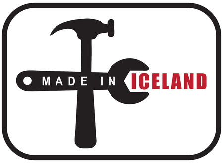 A graphic symbol for industrial use is made in Iceland. Vector illustration.