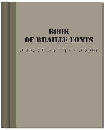 Book Cover for the Blind - Braille Fonts