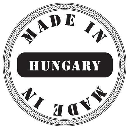 Industrial stamp - made in Hungary. Vector illustration.